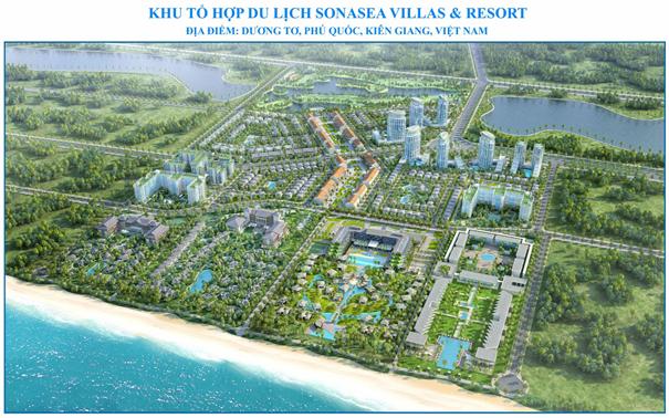 Tổ hợp du lịch khu nghỉ dưỡng Sonasea Villas & Resort rộng 130 ha do tập đoàn CEO Group đầu tư, trong đó sẽ có 1 khách sạn do công ty Đức Trung đầu tư